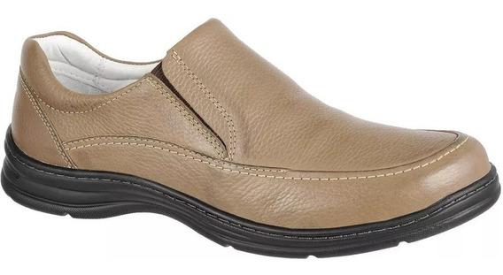 Sapato Social Confortplus Bmbrasil Couro Palmilha Antistress