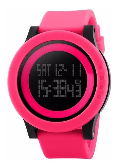 Reloj Quarzo Skmei 1142 Rosa Deportivo Sumergible
