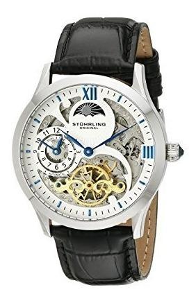 Reloj Con Correa De Cuero Stuhrling Original Para Hombre