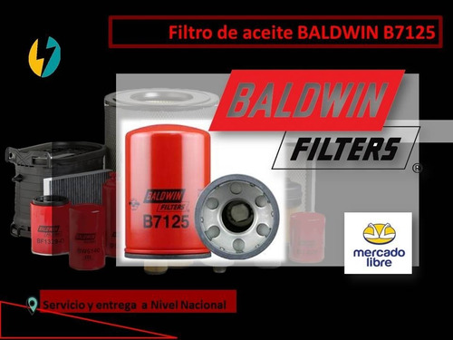 Filtro Aceite Baldwin B7125 Re59754 57243 Lf3703 P551352.
