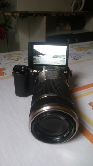 Camera Alfa A5000 Sony / Lente 55 - 210mm