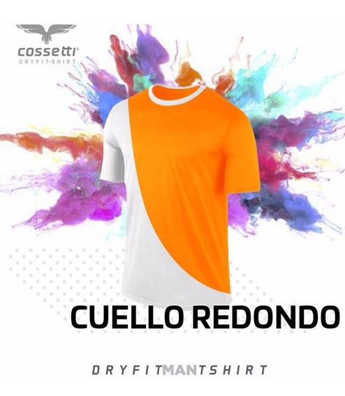 Playera Cuello Redondo Cossetti Corta Dryfit Duo Fit Xl 2xl