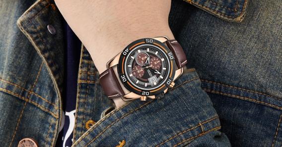 Relógio Masculino Importado Social Luxo Resistente A Água