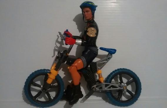 Max Steel Bicicleta Vintage Enemigos Toxon Makino Psicho