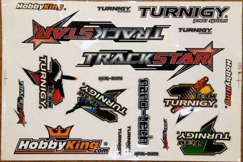 Cartela De Adesivos Turnigy Trackstar Hobbyking Nano-tech