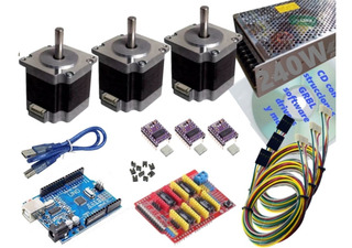 Kit Arduino, Shield Cnc, Drv88, Nema 23, Cd, Fuente 24v 10a