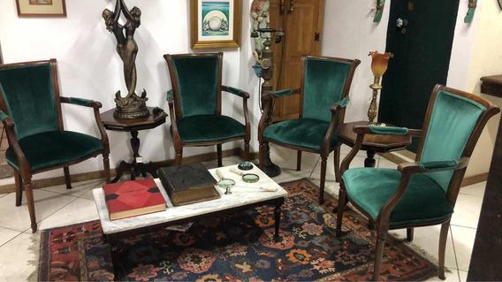 Conjunto Com 4 Cadeiras / Poltronas Estilo Luís Xvi Antigas