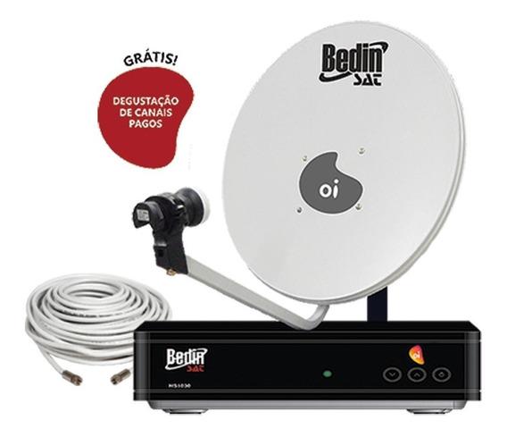 Kit Receptor Hd Oi Tv Livre+ Antena 60cm +cabo 20 Metros