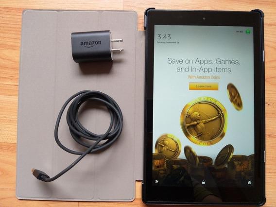Kindle Fire Hd 10 2017 Con Funda Cable Y Cargador. Perfecta!