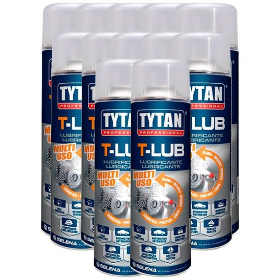 Kit Lubrificante Spray T-lub 300ml Com 12 Unidades-tytan-12l