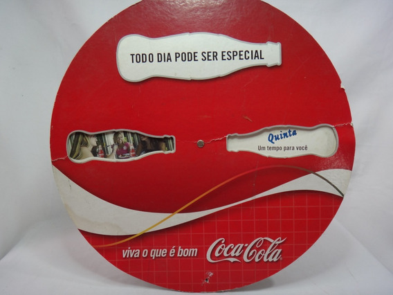 Antiga Propaganda Da Coca-cola - Banner Giratório - Placa