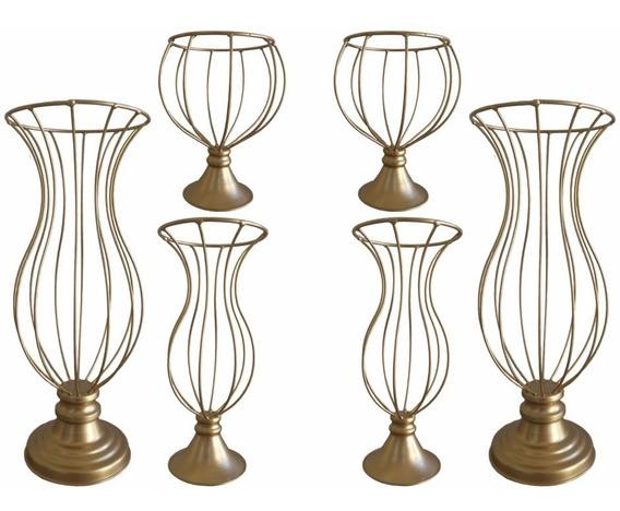 6 Vasos Armação Para Pedraria Mini Bolinha Kit