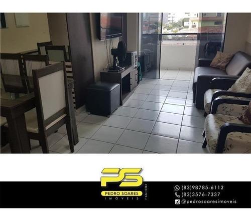 Apartamento Com 2 Dormitórios À Venda, 78 M² Por R$ 400.000,00 - Cabo Branco - João Pessoa/pb - Ap4417