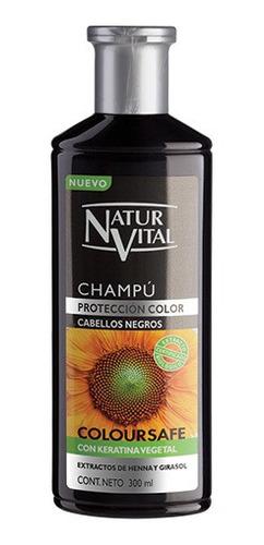 Imagen 1 de 2 de Shampoo Henna Cabellos Negros/canos Coloursafe 300 Ml