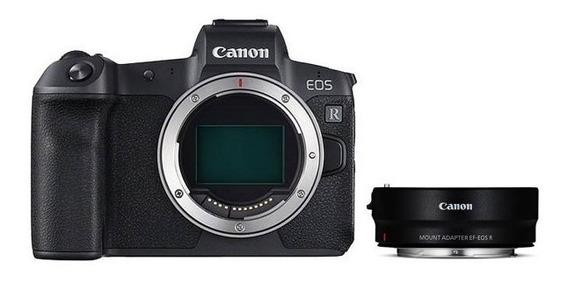Camera Canon Eos Rp Body + Adapt. Eos R P/ Lentes Ef/ef-s