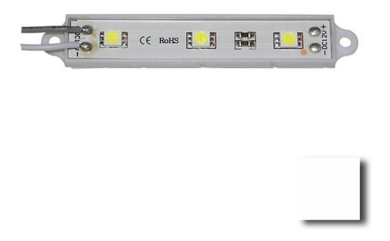 Modulo 3 Leds 5050 12v Exterior A/brillo V/colores X 10 Unid