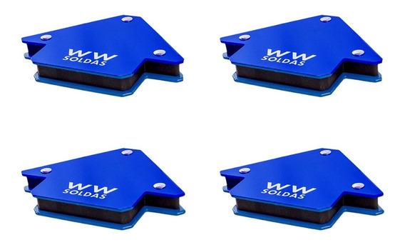 Esquadro Magnético Para Solda 4un 12kg - Wwsoldas