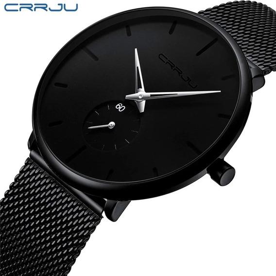 Relógio Masculino Casual Esportivo Luxo Crrju A Prova D