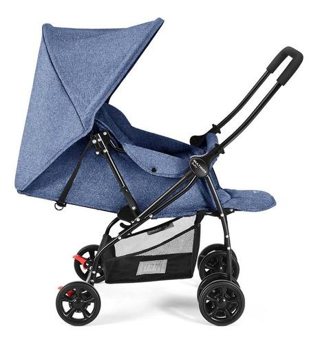 Carrinho De Bebê Com Alça Reversível Max Azul - Multikids