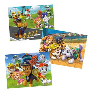 Paw Patrol 3 Puzzles De Madera X 24 Pzas Int 98297 Original