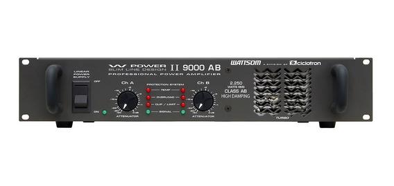 Amplificador Estéreo 2 Canais 2250w W Power 9000 - Ciclotron