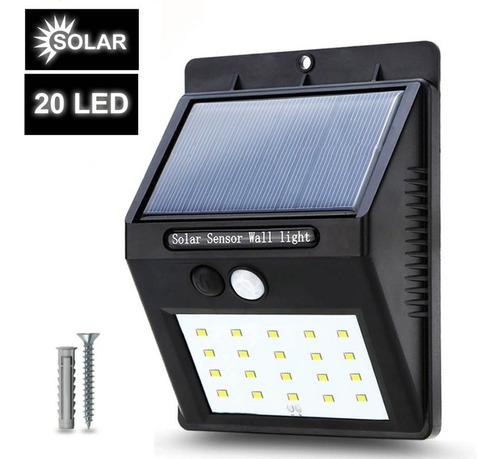 Luz Solar Led Para Exteriores, Lámpara Recargable Con Sensor