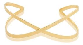 Bracelete X, Folheado Em Ouro 18k