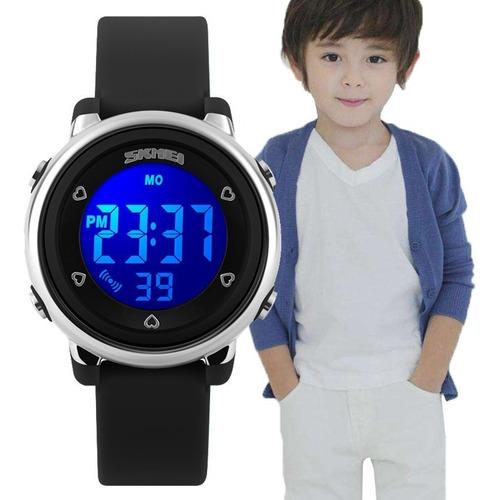 Relógio Infantil Digital 7 Cores Luz Skmei Esportivo Natação