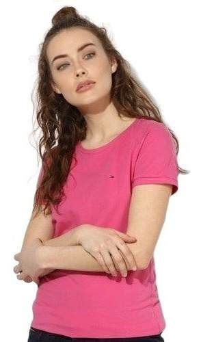 Beauty Gifts Remera Mujer Rosa Tommy Hilfiger Original 100 % Algodon L