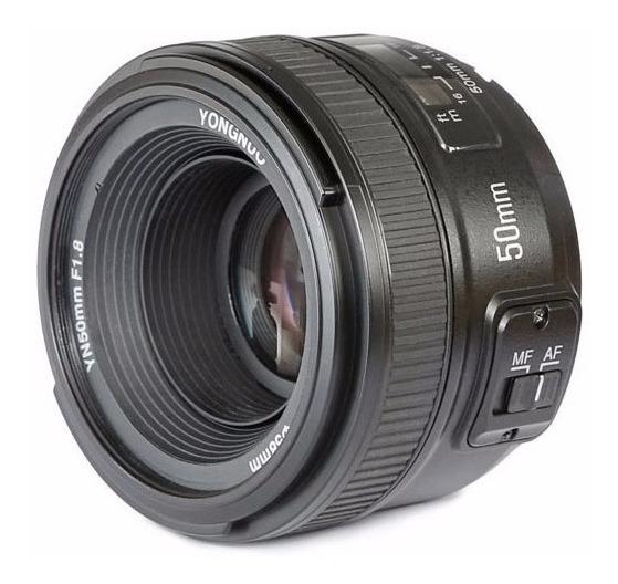 Lente Yongnuo 50mm F/1.8 C/ Motor De Af Para Nikon