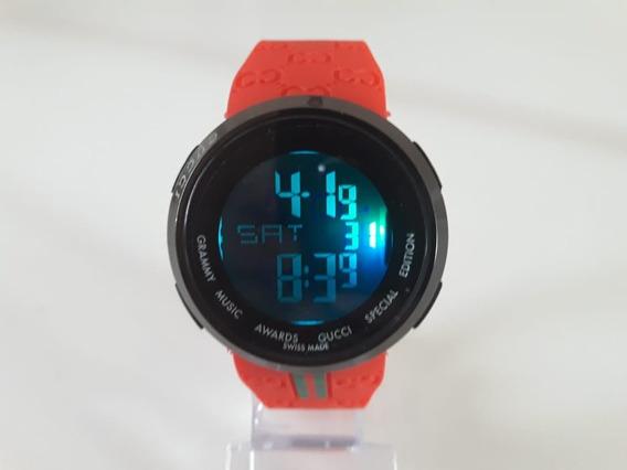 Relógio Digital Gucci Unisex Especial + Caixa