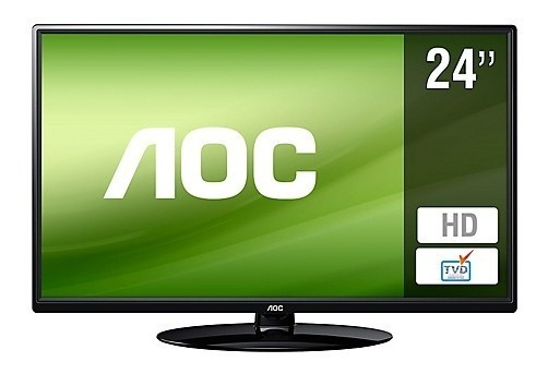 Televisor Monitor Tv Aoc 24 Le24h1351 Hdmi Usb Hd Nuevo