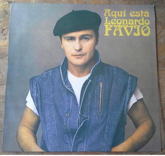 Disco De Vinilo 1983 Aquí Está Leonardo Favio