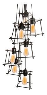 Lampara Colgante Leuk Icaro Araña Luces E27 Hierro 220v