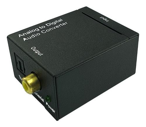 Convertidor De 2rca Análogo / Coaxial A Audio Digital Óptico