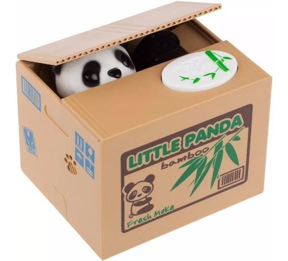Alcancia Roba Monedas Electrónico Panda Con Sonido