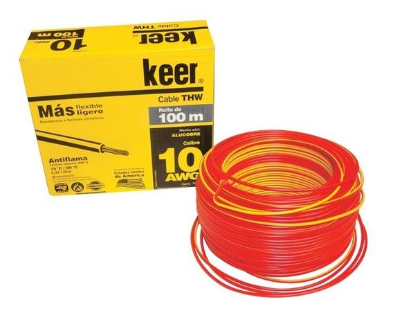 Rollo De Cable Thw Calibre 10, Cable Electrico