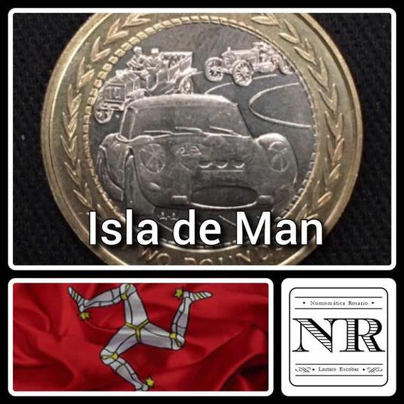 Isla De Man - 2 Libras - 1998 - Bimetalica - Km # 858