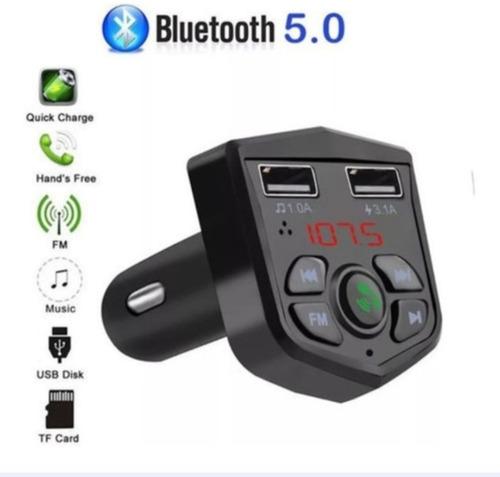 Imagen 1 de 10 de Transmisor Fm Bluetooth 5.0/ 3,1 A / 2x Usb