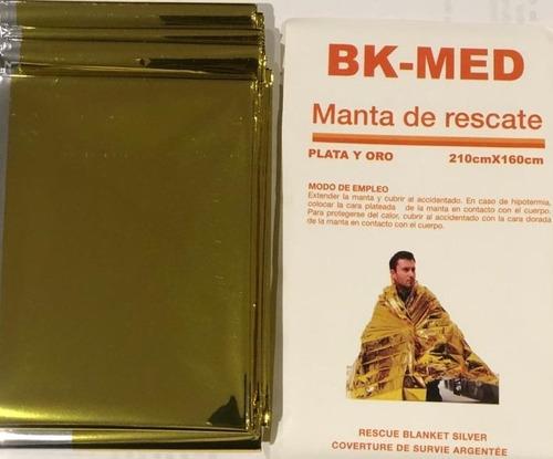 Imagen 1 de 2 de Manta Isotermica - Para Rescate Oro/plata