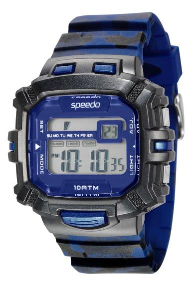 Relógio Speedo Digital 65078g0evnp3 - Preto E Azul