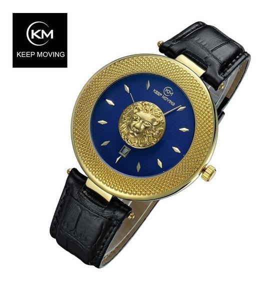Relógios À Prova D Água Lion Dourado