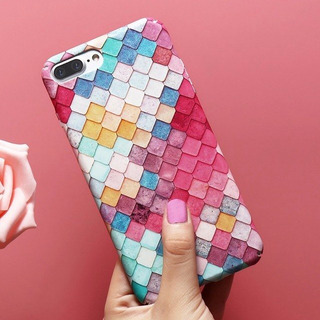 Funda 3d Multicolor iPhone Xs Max Xs 8 7 6 5 Se + Cristal
