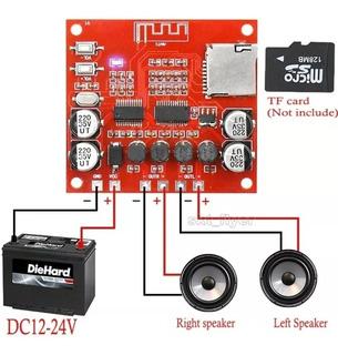 Módulo Amplificador Bluetooth 15+15w Rms, 12a24v Cc
