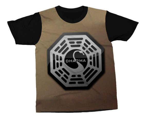 Camiseta Lost Série Dharma Initiative Televisão Blusa Camisa