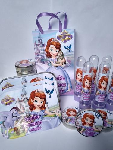 Imagem 1 de 5 de Kit Festa Infantil Personalizada Princesa Sofia Com Sacola