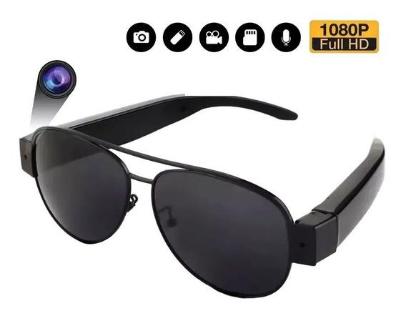 Lentes Espia 1080 Anteojos Mini Camara Seguridad Polarizado