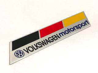 Emblema Vw Volkswagen Motorsport Alemanha Jetta Gol Polo Gti