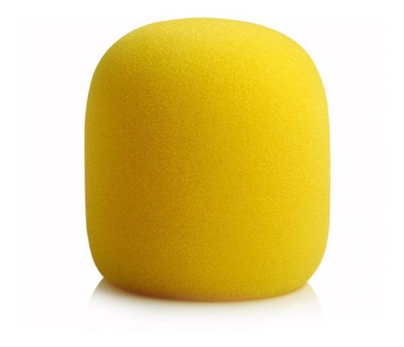 Espuma Para Microfone De Mão Alta Qualidade Cores Sortidas