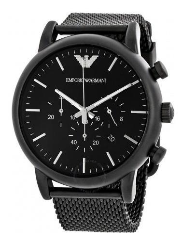 Relógio Xv1896 Armani Emporio Ar1968 Analógico Preto + Caixa